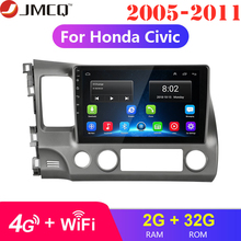 цена на 2G 32G Android 8.1 4G WIFI Car Radio Multimedia Video Player for Honda Civic 2005-2011 Navigation GPS 1024*600 + Special Frame