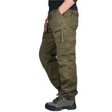 New Mens Cargo Pants Fashion Tactical Pants Military Army Cotton Zipper Streetwear Autumn Overalls Men Military Style Trousers
