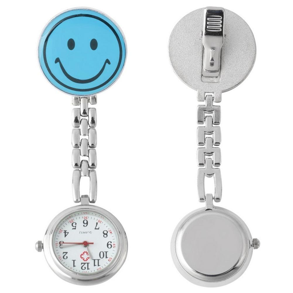 Brooch Pocket Watch Clip-on Nurse Watch With Lapel Hanging Butterfly Pendant