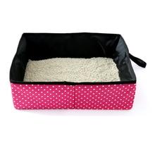 Pet Cat Litter Box Folding Pan Waterproof Outdoor Foldable Portable Travel Toilet Seat Doghouse Catmat