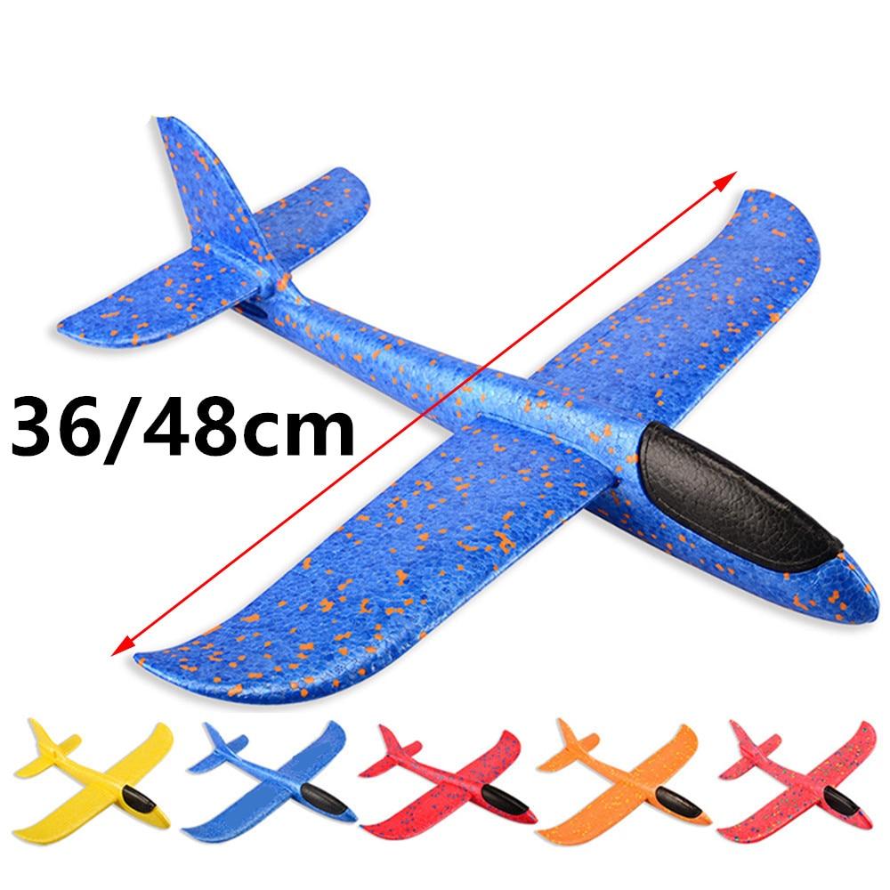 36/48cm mão jogar voando planador aviões epp espuma avião criança brinquedos modelo planador avião lançamento ao ar livre crianças brinquedo para o jogo de festa