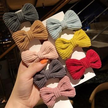 Korean childrens bow hair clip girls baby hairpin BB little kids accessories