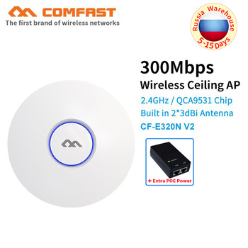 цена на COMFAST CF-E320NV2 300Mbps Ceiling AP 802.11b/g/n wireless  AP wifi coverage router 16 Flash WiFi Access Point add 48V POE power