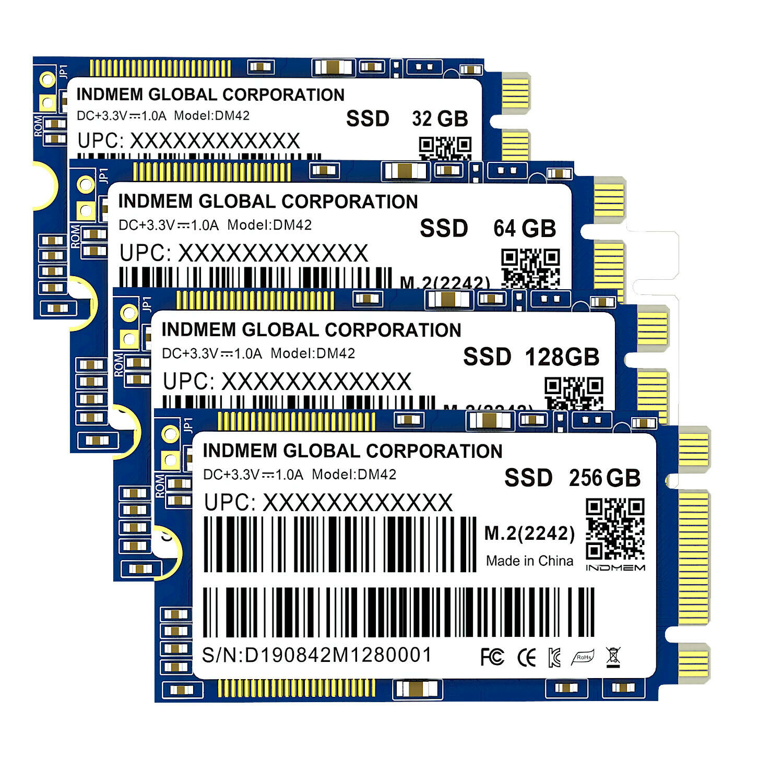INDMEM M.2 2242 SSD 256GB/128GB/64GB MLC SSD M2 2242 SSD M.2 Solid State Drive MLC Sata HD Internal SSD 120GB 240GB Hard Drive