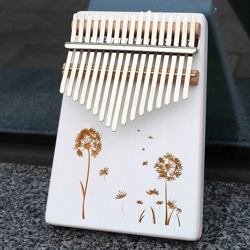 KERUS 17 teclas con Kalimba pulgar Piano hecho por una sola placa de madera de alta calidad cuerpo de caoba instrumento musical