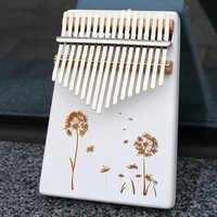 KERUS 17 teclas di pentecoste Kalimba pulgar Pianoforte hecho por una sola placa de madera de alta calidad cuerpo de caoba instrumento musical