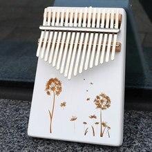 KERUS-Piano con forma de Kalimba para uso en el hogar, instrumento musical de caoba de alta calidad, con diseño de Kalimba de 17 teclas
