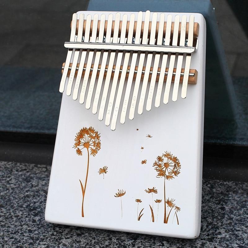 KERUS 17 teclas whit pulgar hecho de Piano Kalimba por placa de madera de alta calidad una sola cuerpo de caoba instrumento musical