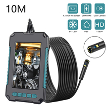 Endoscope 4.3 Inches IPS Screen 1080P High Definition IP68 Industrial Endoscopes with 9 LED 8mm Lens 2 Megapixels Magnifier