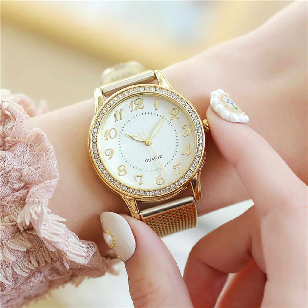ด้านบนยี่ห้อสร้อยข้อมือผู้หญิงนาฬิกาผู้หญิงควอตซ์สแตนเลสสตีลนาฬิกานาฬิกาข้อมือ relogio feminino