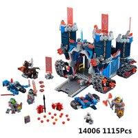 KING 97006(14006) 1115Pcs 70317 The Fortrex Nexus Knights Building Blocks Bricks Kit Toys Set Castle Weapon Clay Aaron Fox Axl