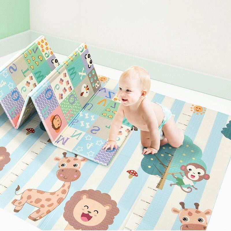 XPE tapis pliable pour bébé ramper tapis épais salon escalade sans odeur XPE tapis pour enfants anti-dérapant développement jeu tapis