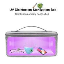 uv ultraviolet light disinfection sterilization Bag Sterilizer Box Usb Rechargeable Germicidal UV Lamp Uv Cleaner Zipper Apr16