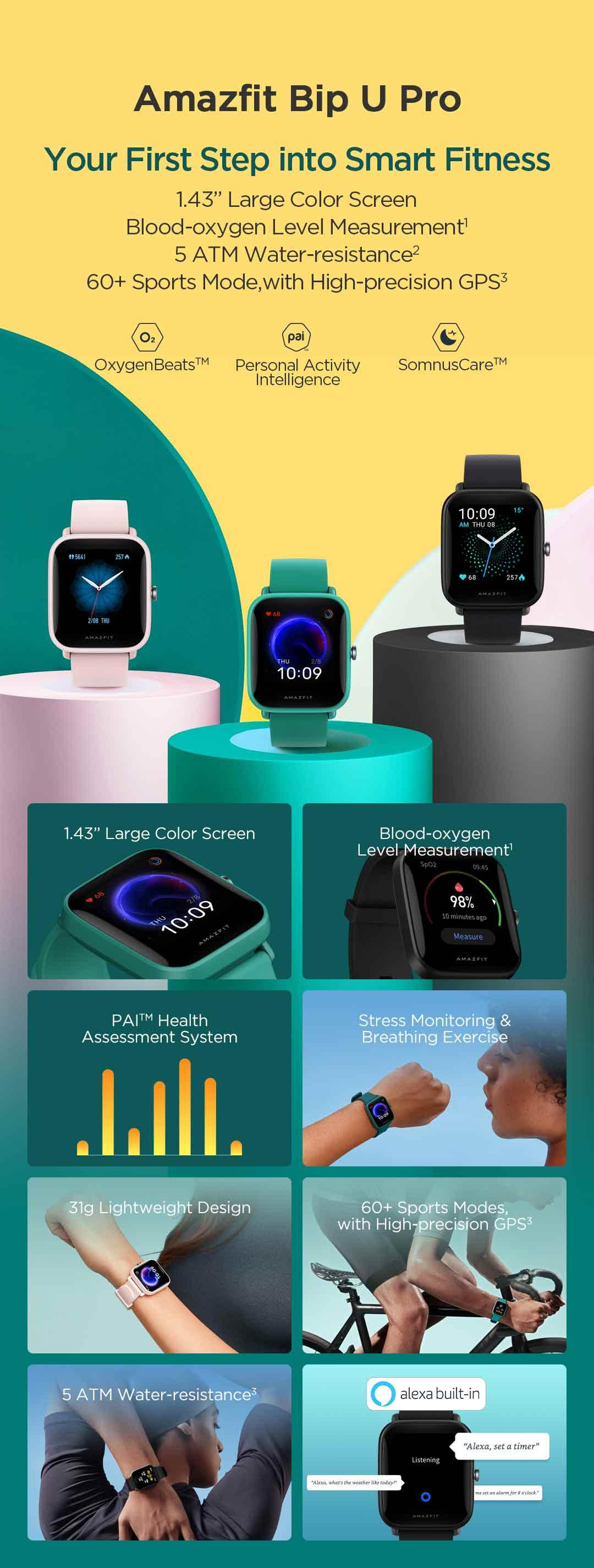 Amazfit Bip U Pro Smartwatch 5
