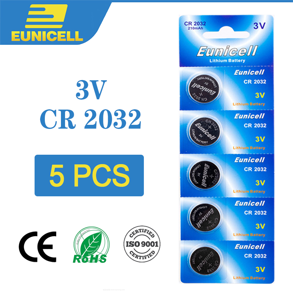5pcs Lithium Cell Coin Battery 3V CR2032 CR 2032 Button Batteries BR2032 DL2032 ECR2032 5004LC L2032 For Watch Toys Remote Scale