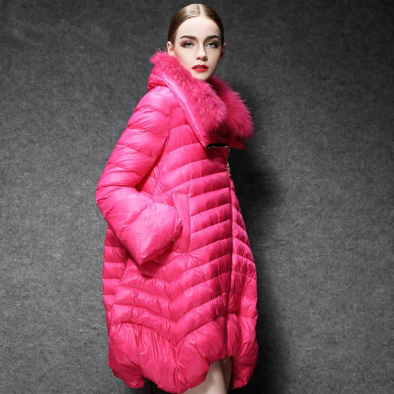 Weiße Ente Unten Jacke Wome Lange Mäntel Weibliche Mode Puffer Mantel Licht Frauen Unten Jacken 2020 YL169111 KJ3739