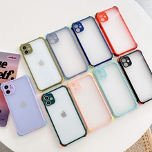Simple Candy Solid Color Transparent Phone Case For