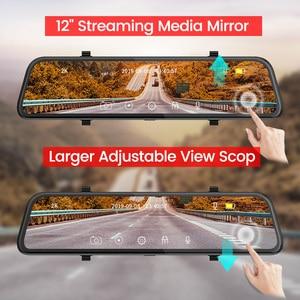 Image 4 - E ACE carro dvr fhd córrego mídia espelho retrovisor 2 k + 1080 p gravador de vídeo lente dupla câmera traço com câmera de visão traseira registrador