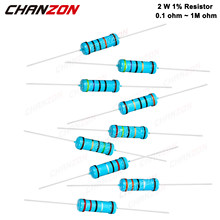 30 Pcs 2W 1% Metal Film Resistors Set 1ohm - 1M ohm 2Watt High Precision MF Fixed Resistance 1K 10K 100K 4R7 2K2 2.2K 4.7K 1Kohm