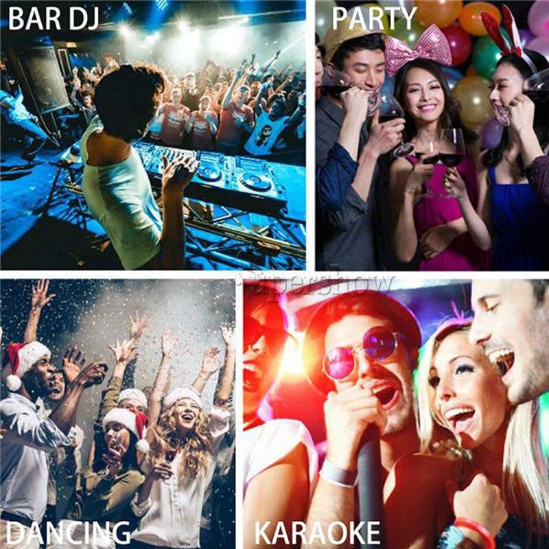 H52210567f6d642978810f95bcde6821fl - 36 Led DJ Disco Strobe Light LED Flash Voice Music Stroboscope Stage Lighting Effect Party Show