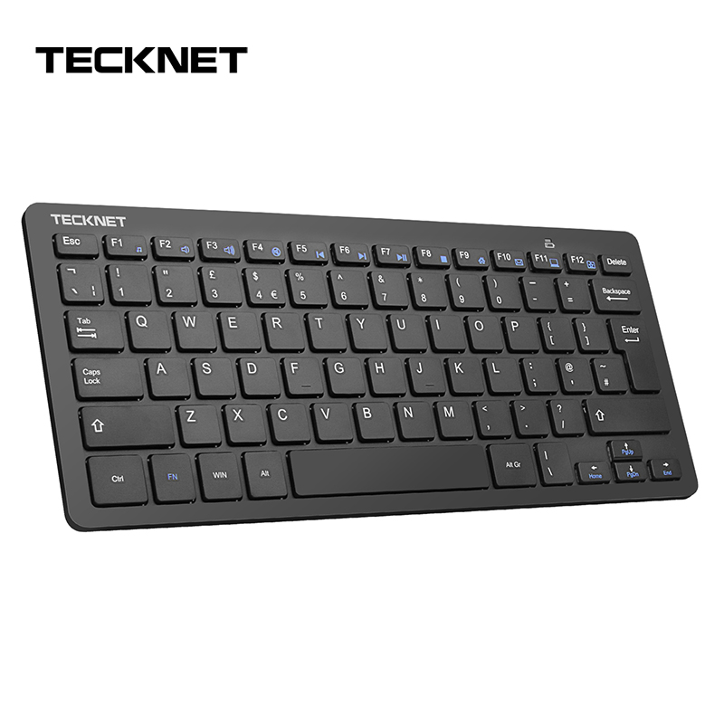 TeckNet 2.4G Wireless Keyboard For Windows10/8/7/ Vista/XP and Android Smart TV,UK keyboard Layout Whisper-Quiet Keyboard Design image