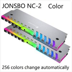 Image 2 - 2 sztuk RAM radiator Cooler Shell 256 kolor automatyczna zmiana aluminiowy radiator pamięć stacjonarna kamizelka chłodząca NC 2