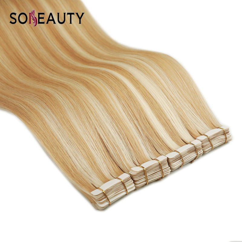 Sobeauty Tape In Human Hair Extensions 20PCS/pack Hair Extensions  Tape Remy Hair Extensions  Balayage Color Tangle Free