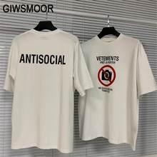 Vetements nenhuma mídia social camiseta 2021 dos homens das mulheres logotipo anti-social vetements t-shirts tag vtm topos de alta qualidade algodão t vtm