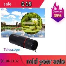Hot Selling HD 30x25 Monocular Telescope Binoculars Zooming Focus Green Film Binoculo Optical Hunting High Quality Tourism Scope