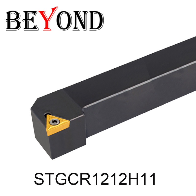 BEYOND STGCR1212H11 STGCL1212H11 12mm External lathe turning tool Holder STGCR STGCL Boring Bar carbide inserts cnc <font><b>TCMT</b></font> <font><b>110204</b></font> image