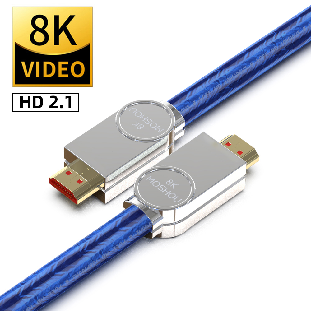 8K HDMI-compatible 2.1 Cables 48Gbps 8K@120Hz 4K60@Hz Dynamic HDR 4:4:4 HDCP 2.2 3D for TV Amplifier Projector Blu-ray Video