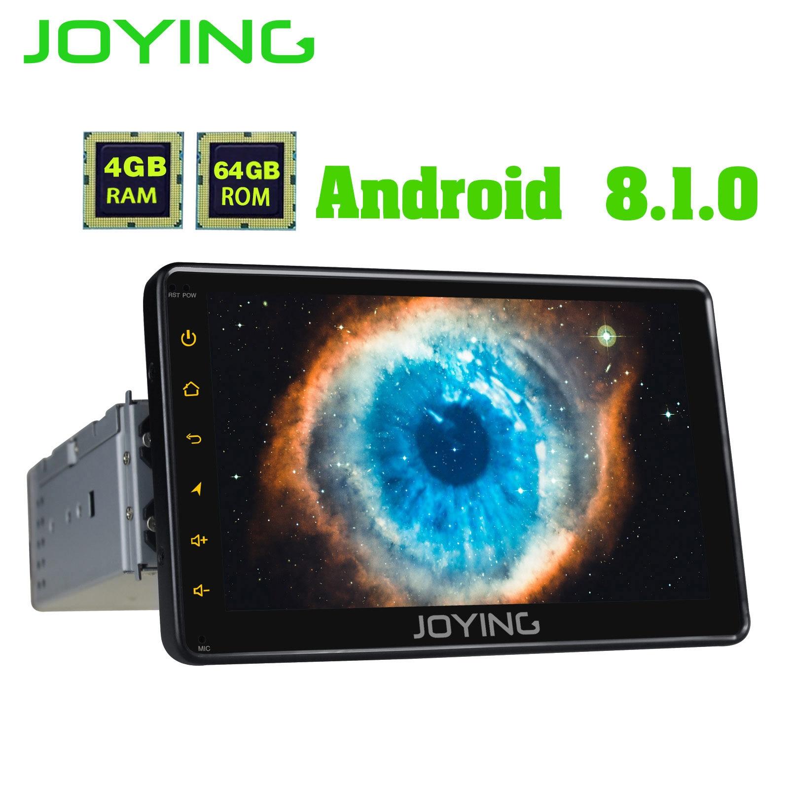 "JOYING 1 Din Android 8.1 Car Radio Octa Core GPS Navi Autoradio Stereo Support 4G/fast Boot/Carplay/SWC 4GB+64GB 7"" HD Display"