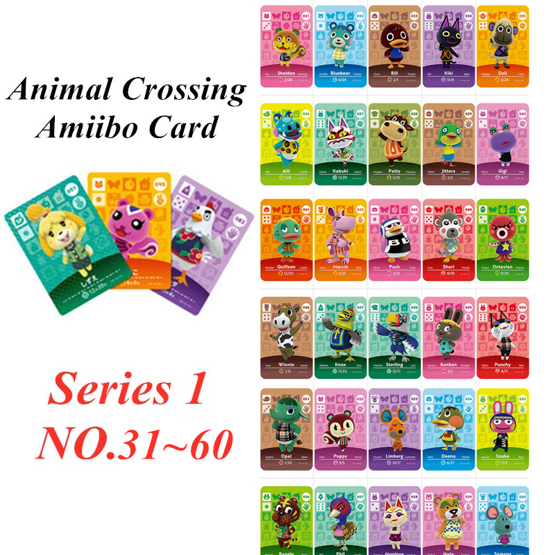 Animal Crossing Card Amiibo NFC Card For Nintendo Switch NS Games Series 1 (31 To 60)