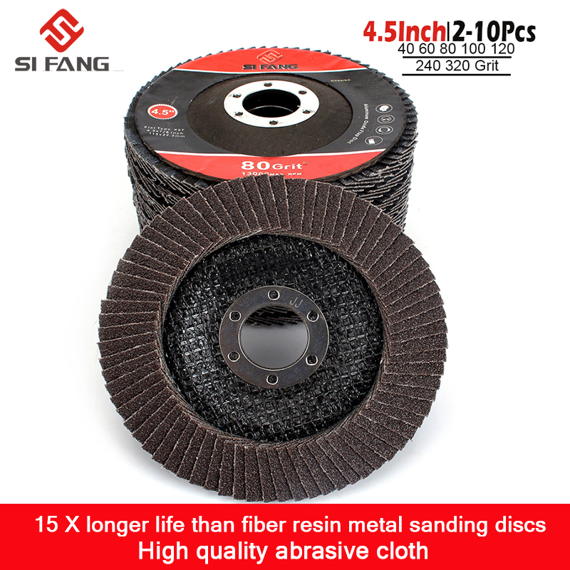 115mm 4.5inch T29 Professional Flap Discs Grinding Wheels  Sanding Discs For Angle Grinder 40-320 Grit  2-10Pac
