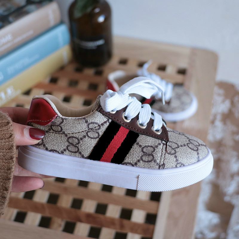 2019 Autumn New Fashion Children's Shoes Kids Sneakers Male Girl Small White Shoes Baby Soft Bottom Study Walking Shoes