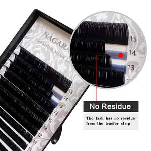 Image 2 - NAGARAKU 6 cases bulk 7~15mm MIX Faux mink eyelash extension natural 16rows lash trays  individual eyelashes makeup  cilios