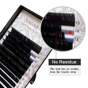 Image 2 - NAGARAKU 6 fällen groß 7 ~ 15mm MIX Faux nerz wimpern verlängerung natürliche 16 reihen lash trays einzelnen wimpern make up cilios