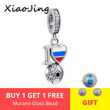 New design I love soccer charms pendant 925 sterling silver beads fit authentic pandora bracelet diy fashion jewelry for gifts fit authentic pandora bracelet jewelry 925 sterling silver beads bound by love just married charms beads luxury love gifts
