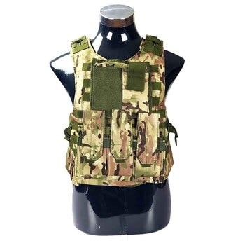 USMC Airsoft Military Tactical Vest Molle Combat Assault Plate Carrier Tactical Vest 7 Colors CS Outdoor Clothing Hunting Vest 15