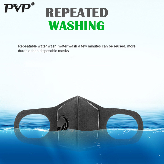 PVP 1Pcs Face Mask Dust Mask Anti Pollution Masks PM2.5 Activated Carbon Filter Insert Can Be Washed Reusable Mouth Masks warm 4
