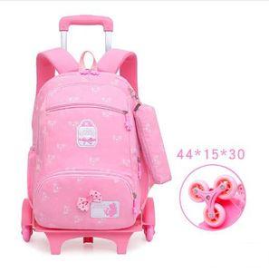 Image 2 - Sac à dos à roulettes pour enfants, sac à dos à roulettes pour les écoliers, sac de voyage à roulettes