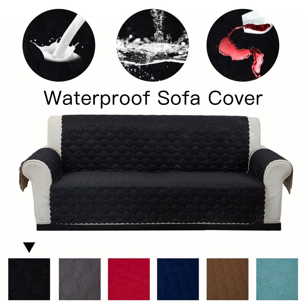 Waterproof Slipcover Sofa Couch Cover Chair Pet Dog Kids Mat Furniture Protector