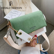 Contrast Color Crossbody Bags For Women Chain Messenger Shoulder Bag Suede PU Leather Ladies Purses and Handbags CrossBody Bag