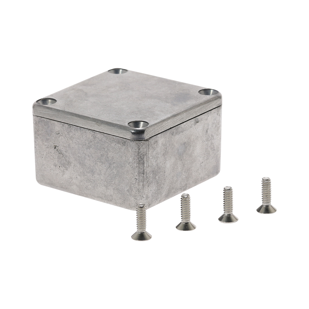 Aluminium Junction Boxes Enclosure Electronic Diecast Stomp Box Project Box 1590LB 50.5*49.5*31mm Silver Project Instrument Case