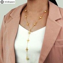 цена на The new popular fashion ideas pop female accessories wholesale sunflower stars alloy pendant necklace