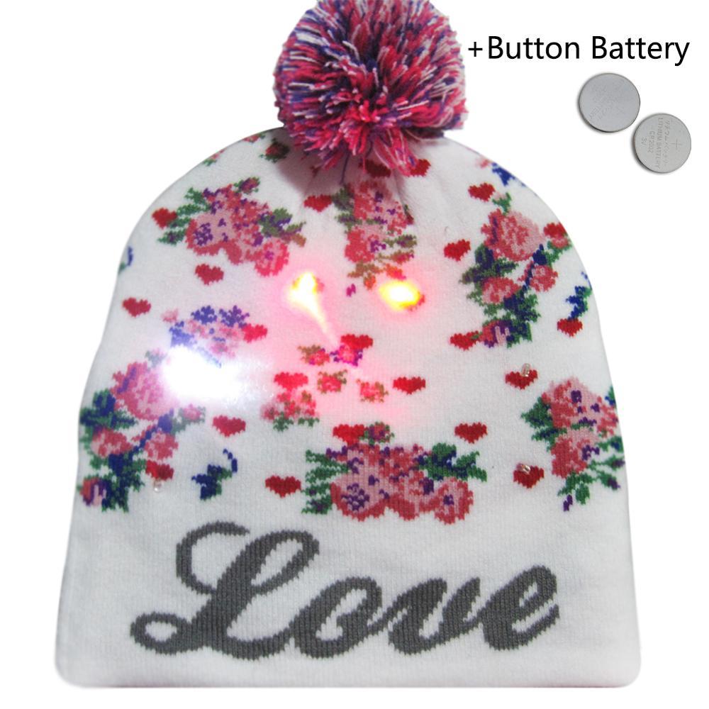 Г., 43 дизайна, светодиодный Рождественский головной убор, Шапка-бини, Рождественский Санта-светильник, вязаная шапка для детей и взрослых, для рождественской вечеринки - Цвет: 33
