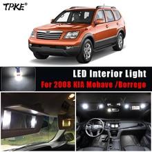 TPKE 11 Uds bombillas de luz LED para coche para KIA Mohave DE 2008 Canbus Interior blanco Lightfor KIA Borrego 2008 Luz de cúpula