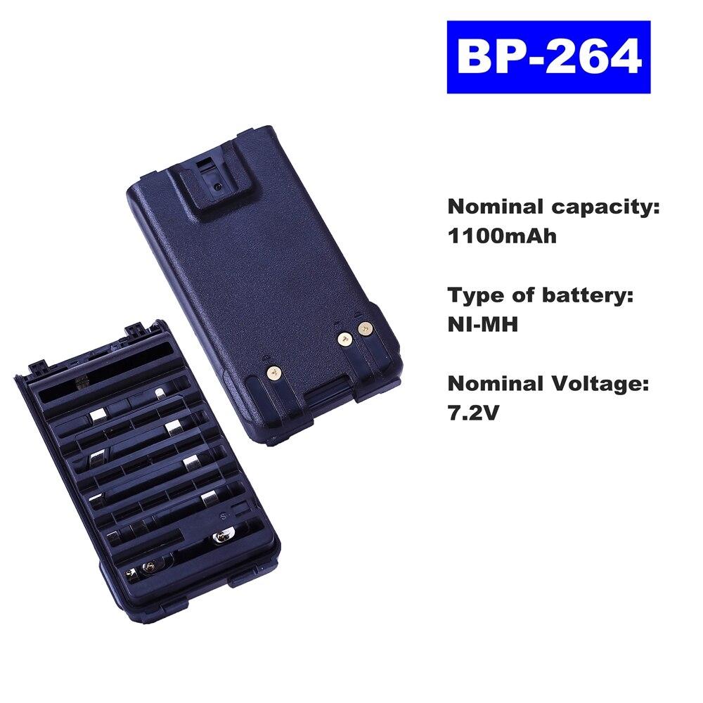 7.2V 1100mAh NI-MH Radio Battery BP-264 For ICOM Walkie Talkie V80/V80FX  Two Way Radio