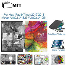 Чехол для планшета mtt ipad 97 дюймов 2017 2018 тонкий pu кожаный