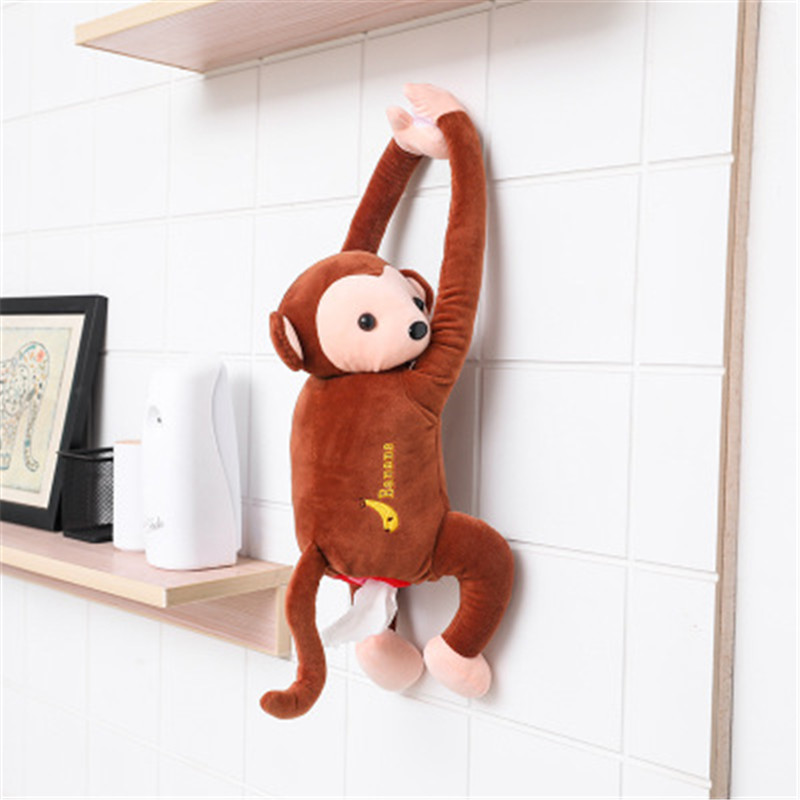 lowest price 1PC Cartoon Paper Napkin Tissue Box Case Cute Monkey Animals Styles Car Armrest Interior Accessories Home Bathroom Tissue Box